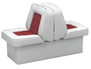 Back To Back Boat Seats With Base White Red Uv Convertible Marine Lounge Seating
