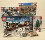 Lego Bundle Creator Winter Holiday Train 10254 With Power Functions + More Sets