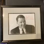 Bandw Frank Sinatra Enterprises Photo Signature Autograph Signed 7in X 9in Framed