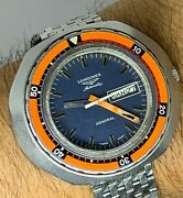 Vintage Longines Admiral Jumbo Automatic Diver Watch Ref 8557
