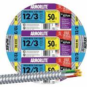 Southwire 50 Ft. 12/3 Mc Armored Cable 68583422 Pack Of 5