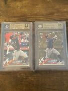2018 Ronald Acuna Rookie Topps S2 Bat Down And Gold Update Bgs 9.5 Lot Rc