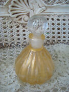 Gorgeous Gold Murano Glass Perfume Bottle From Italy 2 So Pretty