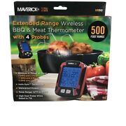 Maverick Xr Extended Range Wireless Bbq And Meat Thermometer With 4 Probes