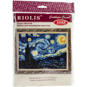 Riolis Counted Cross Stitch Kit 15.75x11.75-starry Night-van Goghand039s 14