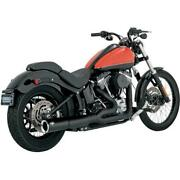 47527 - Vance And Hines - Pro Pipe Exhaust System, Black Softail '12-17