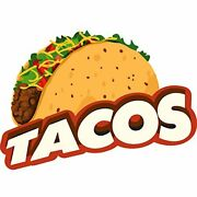 Tacos 36 Concession Decal Sign Cart Trailer Stand Sticker Equipment