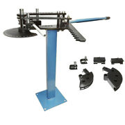 Pedestal 1 1-1/2 And 1-3/4 Tube Pipe Bender Bending Schedule 40 Up To 120 Degree