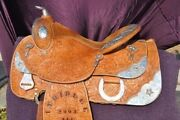 Western Show Saddle 15.5 In
