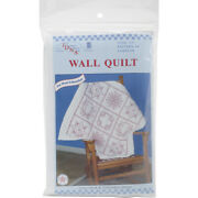 Jack Dempsey Stamped White Wall Or Lap Quilt 36x36-sampler -739 4