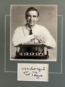 Mr. Rogers Collectible Autograph And Picture - Free Shipping