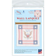 Jack Dempsey Stamped White Wall Or Lap Quilt 36x36-god Bless America -739 3