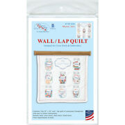 Jack Dempsey Stamped White Wall Or Lap Quilt 36x36-mason Jars -739 626