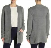 Plus Size 3x Joseph A Women's Textured Knit Open Front Cardigan Sweater Grey New