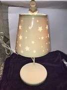 Dept 56 Snowbabies Display Lamp -cut-out Stars Shade And Tiny Snowbaby Top