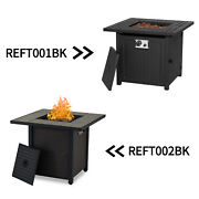 30and039and039 Outdoor Fire Pit Propane Gas Table Backyard Fireplace Patio Heater W/ Cover