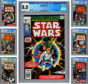 Star Wars 1-6 Cgc Vf/nm Star Wars A New Hope Complete Movie Adaptation 1977