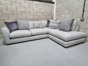 Dfs Salcombe Large Sectional Grey Fabric Left Hand Facing Corner Chaise Sofa