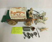 Vintage 1960's Ideal Roy Rogers Chuck Wagon Play Set Toy Not Complete