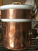 Mauviel Copper Double Boiler 1 Quart Sauce Pan Insert And Lid - New Display Model