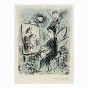 Marc Chagall Russian-french,1887-1985 Lithograph. Towards Another Light.