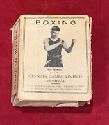Rare Antique 1923 Jack Dempsey Olympia Brand Boxing Card Game Box Only Early Old