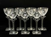 7 Baccarat France Crystal Glass Wine Glasses In Oxygene
