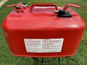 Vintage Suzuki Outboard Metal Boat Gas Fuel Tank Can 6 Gallon Made In Japan