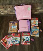 Leap Frog Leap Pad Learning Game System With Backpack 7 Books And 4 Cartridges Lot