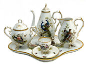 Dresden Germany Porcelain Hand Painted Tea Or Coffee Service For 1, Circa 1900