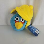 Angry Birds Stuffed Plush Winter Limited Edition Blue With Yellow Hat 2011 6