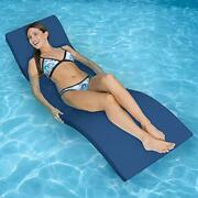 Pool Mate Floating In-pool Luxury Lounge For Swimming Pools Blue