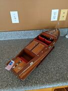 Chris Craft Runabout Wood Model 24 Classic Mahogany Speed Boat