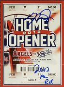 Mike Trout 2012 Al Roy Signed Angels 2012 Home Opener Ticket Psa Encapsulated 1