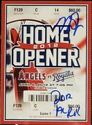Mike Trout 2012 Al Roy Signed Angels 2012 Home Opener Ticket Psa Encapsulated 2