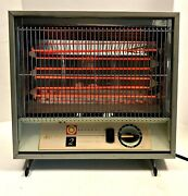 Arvin Automatic Electric Space Heater Mod 44h33 Thermostat Control Mid-century