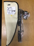 New Vintage Zebco 64 Pack Rod And Reel Combo Rod Carrying Bag Backpack Old Stock