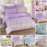 Gemini My Melody Pom Pom Purin Cotton Bed Sheet Pillow Quilt Cover Duvet Covers