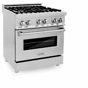 Zline 30 4.0 Cu Ft Stainless Steel Range W/ Gas Stove And Electric Ovenopen Box