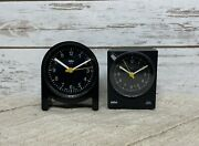 Vintage Braun 4763 And 4761 Made In Germany Travel Alarm Clocks Works Lot Of 2