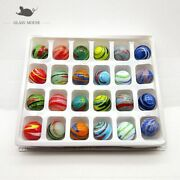 Murano Glass Balls 24pcs Colorful Creative Art Collection Marbles Puzzle Nuggets