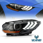 Full Led Headlight Dual Beam For 18-20 Mustang Passenger Side Plug-and-play
