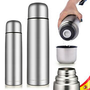 Thermo Water Hot Or Cold In Stainless Steel 0.35 To 1 Lt Coffee Milk Tea Bottle