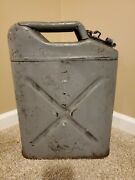 Us Military 1945 Wwii Cavalier Jerry Can Qmc Usa Army Gray