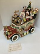 Fitz And Floyd Signature Collection Santa Car Cookie Jar 2nd In Series Perfect