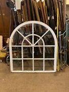 Arched Antique Glass Church Window 45andrdquo X 50andrdquo Beautiful From East Tennessee White