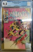 Cgc New Mutants Annual 2 9.2 White Pages First U.s. Psylocke