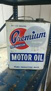 Vintage Premium Eastern Motor Oil 2gl Can And Spout