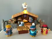 Fisher Price Little People Deluxe Christmas Story Nativity Set B0002-vgc No Box
