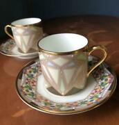 Noritake  Cup Amp Saucer Jewelry Collection 2 Pairs Set 4665